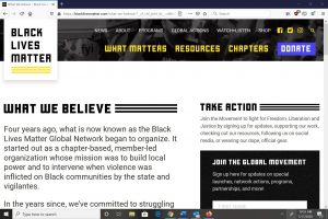 Black Lives Matter What We Believe section screenshot 1_July 17 2020_spectator.org