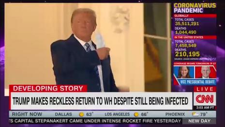 President Trump removing mask CNN New Day 10-6-20